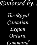 Endorsed by the Royal Canadian Legion Ontario Command